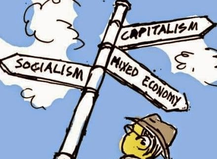 """Sistem Ekonomi Campuran"" Pengertian & ( Ciri – Kelebihan – Kelemahan – Contoh )"