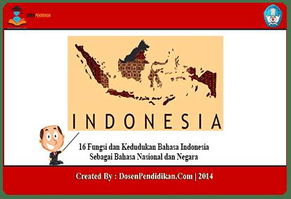 16 Fungsi Kedudukan Bahasa Indonesia Pengertian Awal Mula