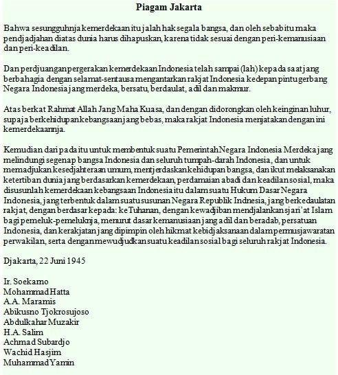 Naskah Asli Piagam Jakarta