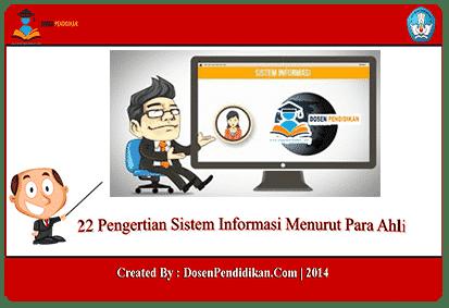 24 Pengertian Sistem Informasi Menurut Para Ahli Komponen