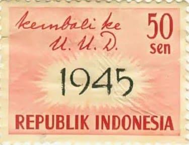 Perangko kembali ke UUD 1945 50sen