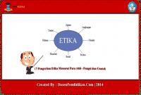 Pengertian Etika Menurut Para Ahli