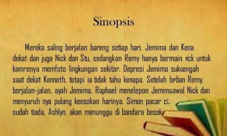 Pengertian Sinopsis Novel