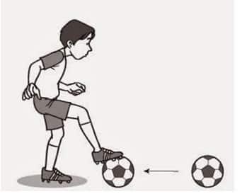 Teknik menghentikan bola dengan telapak kaki