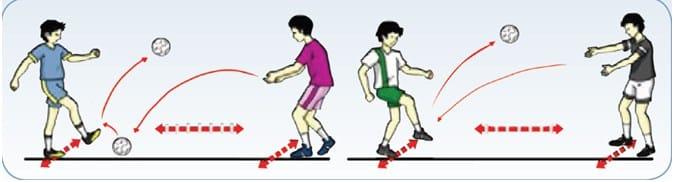 Teknik mengumpan bola dengan punggung kaki