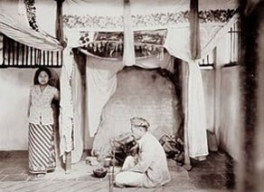 Prasasti Batutulis di tahun 1920-an