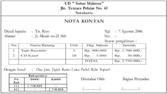 Contoh-Nota-Kontan