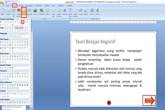 klik menu Insert