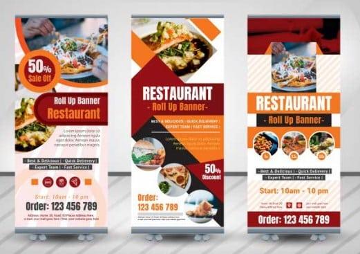 Contoh Spanduk Promosi Makanan