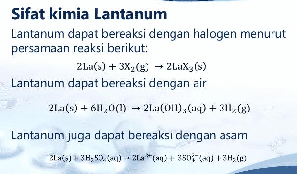 Sifat-Kimia-dan-Reaksi-Kimia-Lanthanum