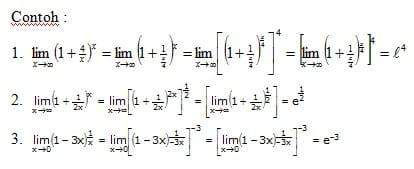 Contoh Limit Bentuk (1°°)