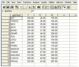 DATA VIEW di SPSS