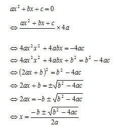 Menyelesaikan Persamaan kuadrat dengan rumus kuadrat