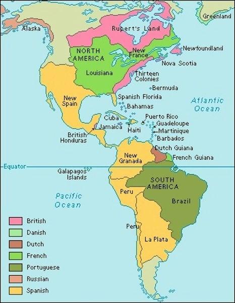 Peta-Benua-Amerika