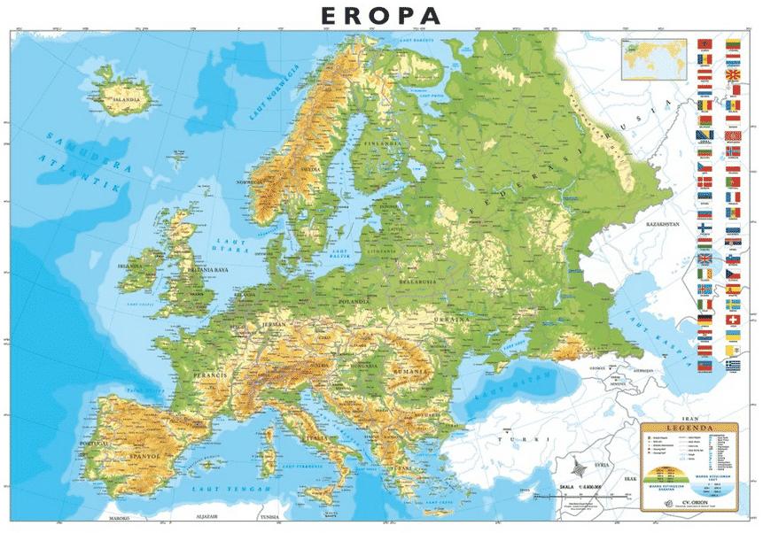 Peta-Benua-Eropa