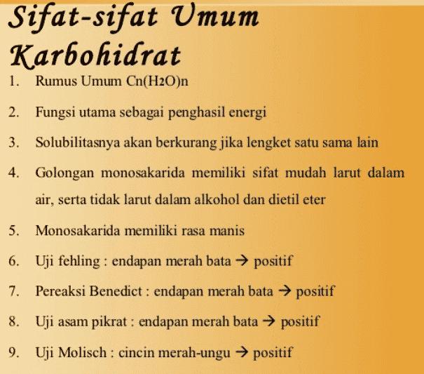Sifat-Karbohidrat
