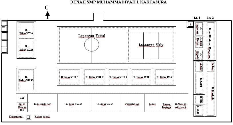 Denah-Bangunan-SMP-Muhammadiyah-1-Kartasura