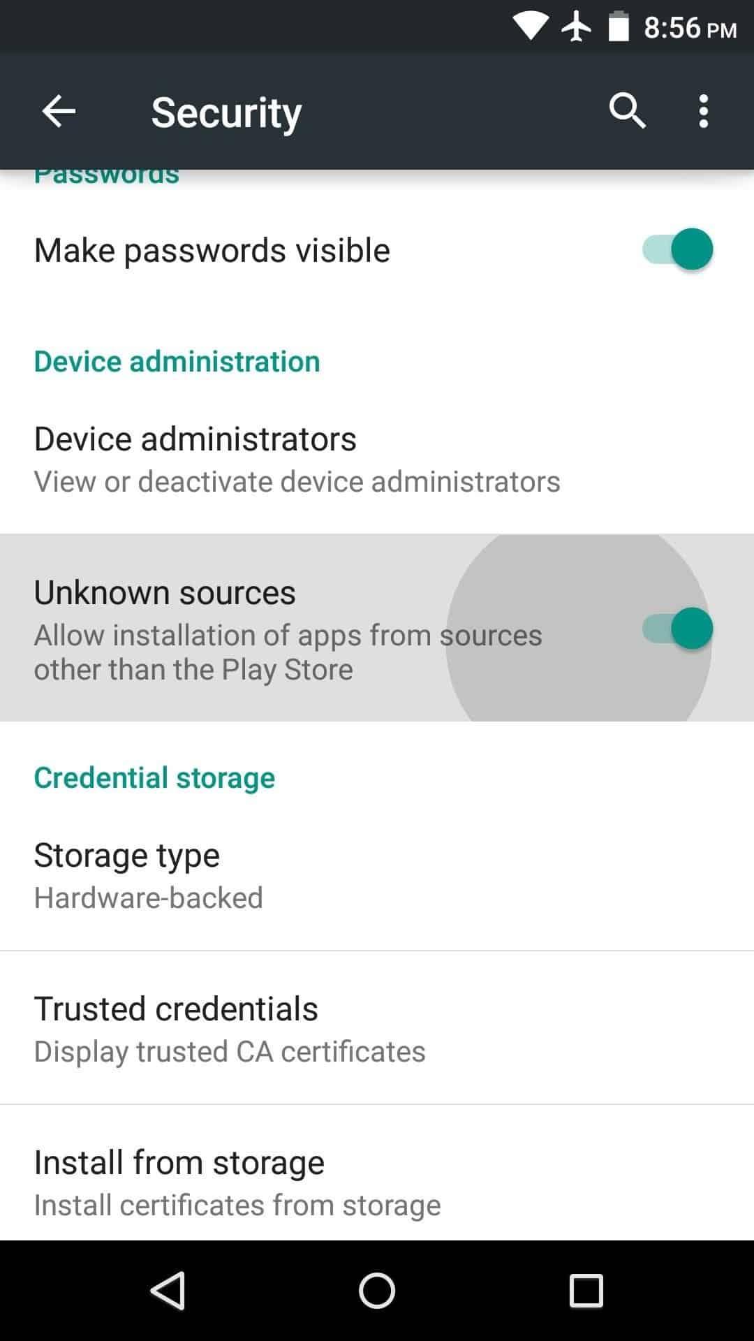 Klik-install-sumber-tidak-dikenal-langkah
